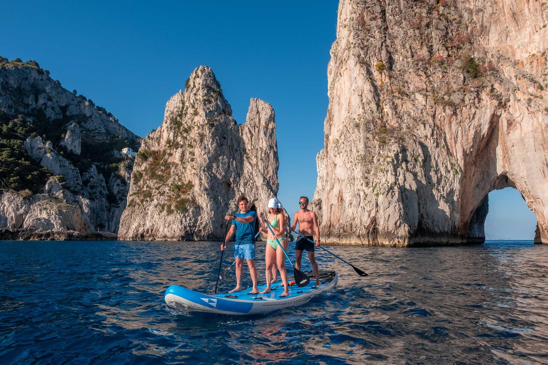 Mega SUP in Capri